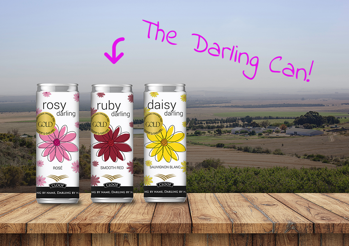 Cloof Darling Wine in a Can